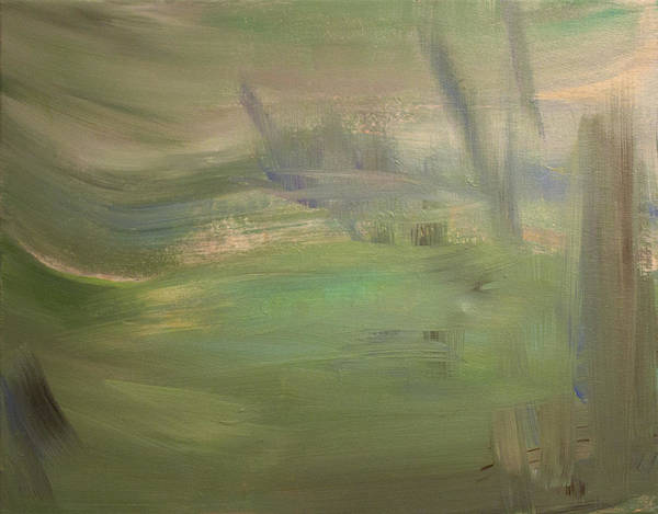 Landscape Art Print featuring the painting Green Wind by Tanya Byrd