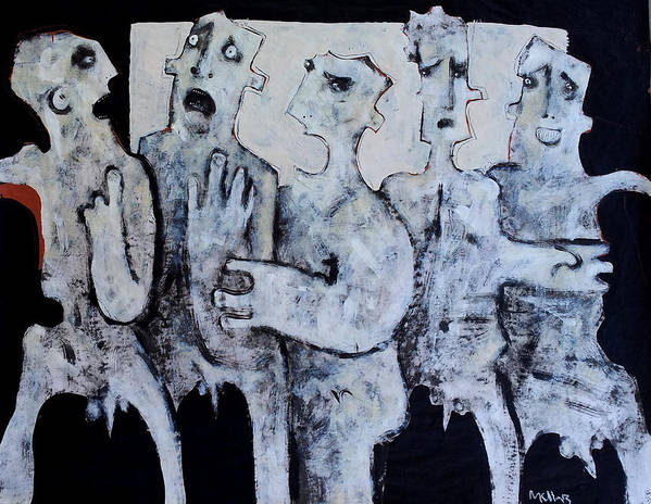 Groups Art Print featuring the painting Grego No.2 by Mark M Mellon