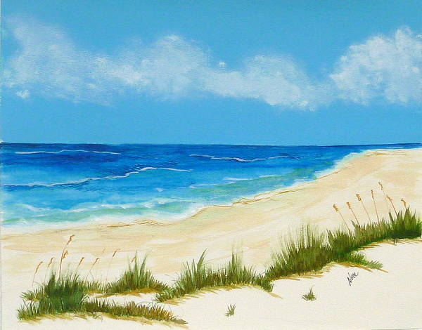 Beach Art Print featuring the painting Gulf Coast IIi by Nancy Nuce