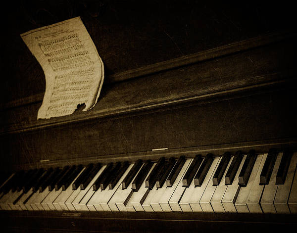 Piano Print featuring the photograph Haunted Melody by Amy Weiss