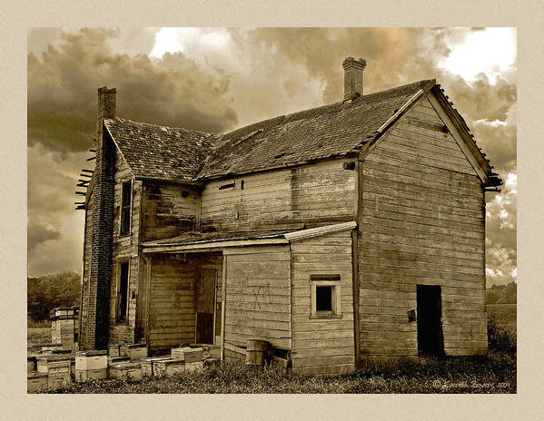 Haunted House Print featuring the photograph If The House Is Rockin' . . . by Everett Bowers