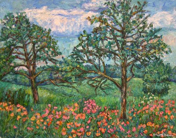 Landscape Art Print featuring the painting Kraft Avenue In Blacksburg by Kendall Kessler