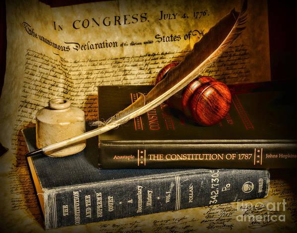 Paul Ward Art Print featuring the photograph Lawyer - The Constitutional Lawyer by Paul Ward