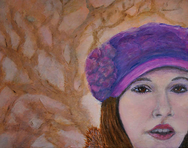 Lady In Hat Series Art Print featuring the painting Mary Kathryn by The Art With A Heart By Charlotte Phillips