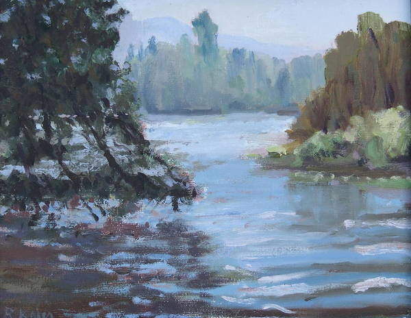 Art Print featuring the painting Marymoor Park Wa by Raymond Kaler