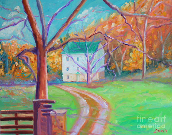 Grist Mill Art Print featuring the painting Mc Donalds Mill by Todd Bandy