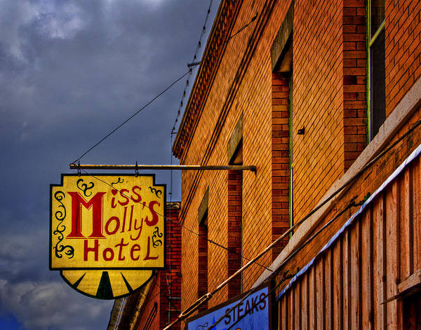 Advertising Art Print featuring the photograph Miss Molly's Hotel by David and Carol Kelly