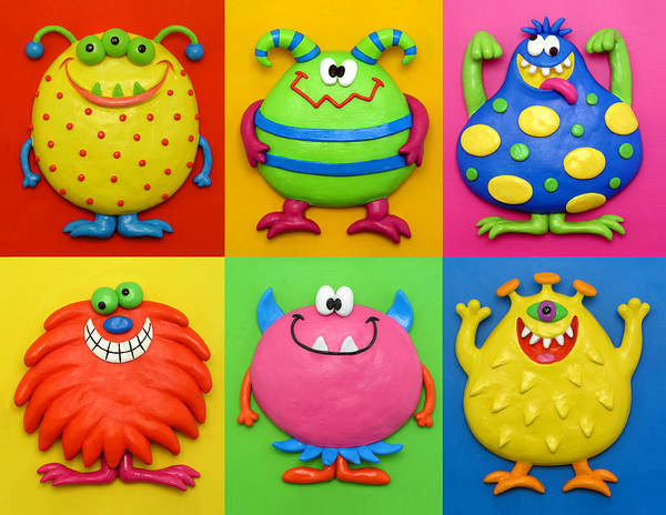 Monsters Art Print featuring the painting Monsters by Amy Vangsgard