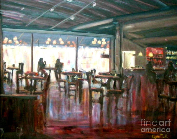 Restaurants Art Print featuring the painting Old Friends by Laura Toth