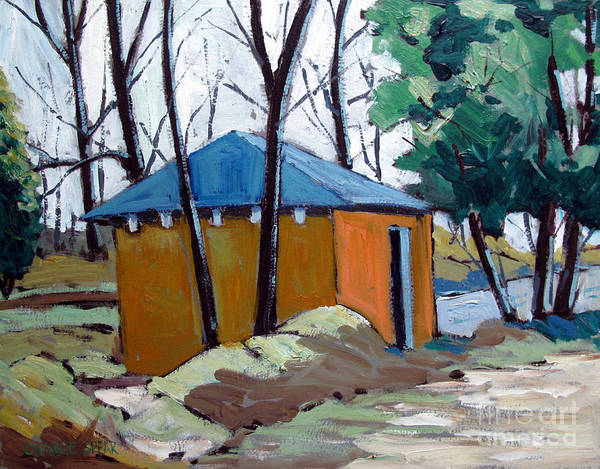 Golf Course Print featuring the painting Old Golf Course Shed No.5 by Charlie Spear