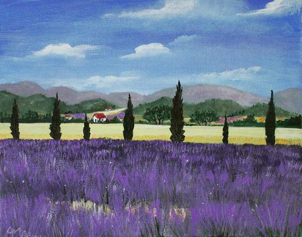 Malakhova Art Print featuring the painting On The Way To Roussillon by Anastasiya Malakhova