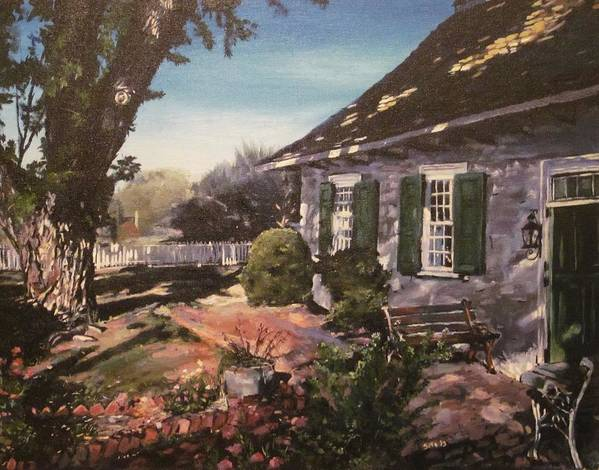 Landscape Art Print featuring the painting Onderdonk House by Victor SOTO