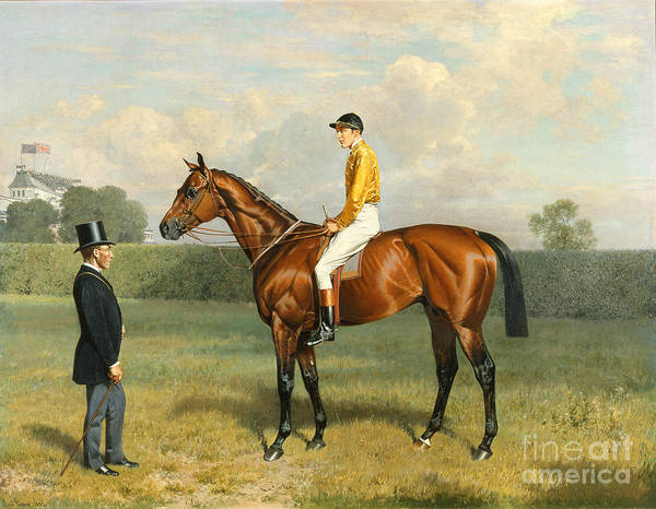 Racehorse Art Print featuring the painting Ormonde Winner Of The 1886 Derby by Emil Adam