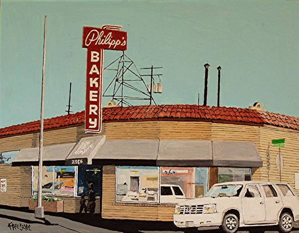 Philipp's Bakery Art Print featuring the painting Philipp's Bakery No. 2 by Paul Guyer