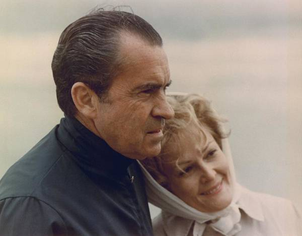 History Art Print featuring the photograph President And Pat Nixon In An by Everett