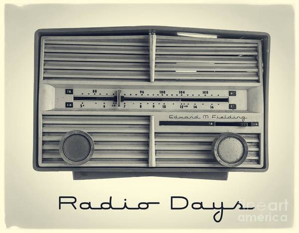 Isolated Art Print featuring the photograph Radio Days by Edward Fielding