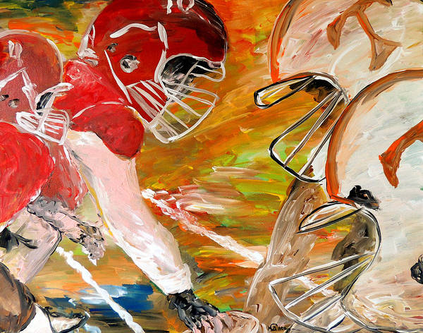 Tennessee Vols Art Print featuring the painting Rivals Face To Face by Mark Moore