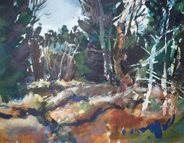 River Art Print featuring the painting River Woods by Dale Jorgensen