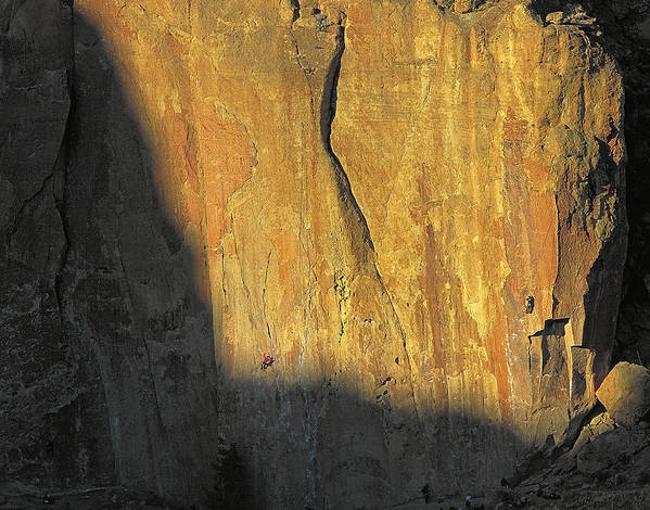Rock Art Print featuring the photograph Rock Climbers On The Big Wall by Buddy Mays