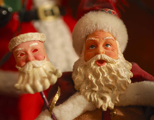 Santa Claus Art Print featuring the photograph Santa Claus - Antique Ornament - 12 by Jill Reger