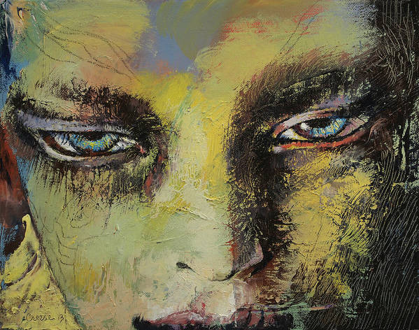 Shiva Art Print featuring the painting Shiva by Michael Creese