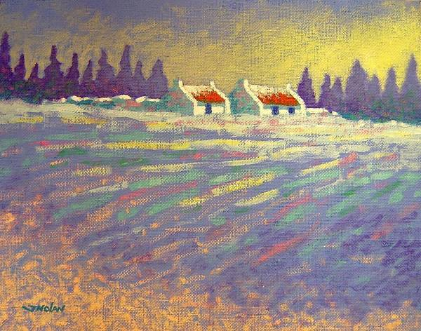 Ireland Art Print featuring the painting Snow Scape County Wicklow by John Nolan