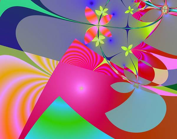 Fractal Art Print featuring the digital art Spring Awakes by Kenneth Keller
