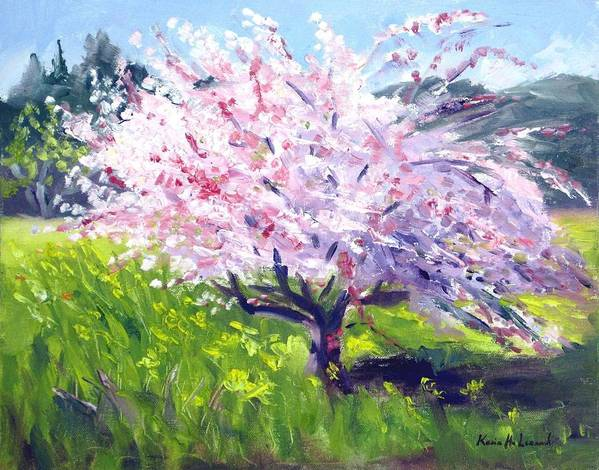 Spring Blossoms Art Print featuring the painting Spring Glory by Karin Leonard