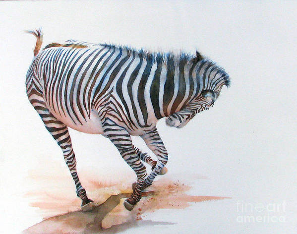 Zebra Art Print featuring the painting Stripes IIi by Patricia Henderson