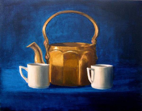Tea Art Print featuring the painting Tea Time by Janet King