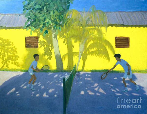 Andrew Macara Art Print featuring the painting Tennis Cuba by Andrew Macara