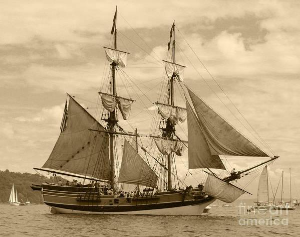 Transportation Art Print featuring the photograph The Lady Washington Ship by Kym Backland