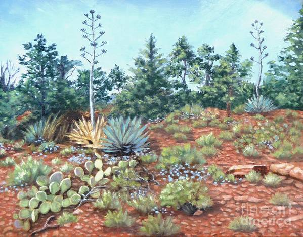 Desert Art Print featuring the painting The Last Hurrah by Beverly Theriault