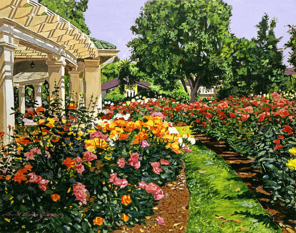 Roses Art Print featuring the painting Tournament Of Roses II by David Lloyd Glover