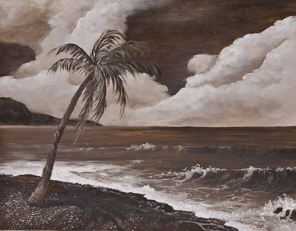 Hawaiian Island Art Print featuring the painting Tropics In Brown by Darice Machel McGuire