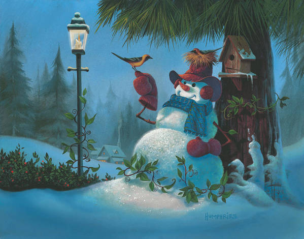 Michael Humphries Art Print featuring the painting Tweet Dreams by Michael Humphries