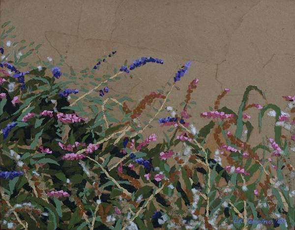 Flowering Butterfly Bush Art Print featuring the painting Tyler by Leah Tomaino
