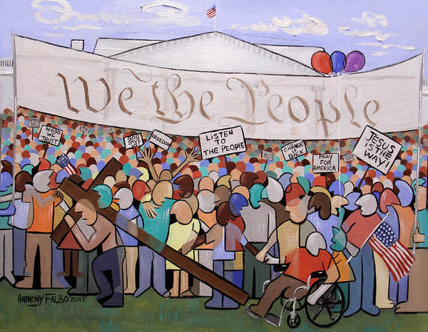 We The People Art Print featuring the painting We The People by Anthony Falbo