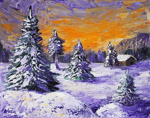 Stowe Art Print featuring the painting Winter Outlook by Anastasiya Malakhova