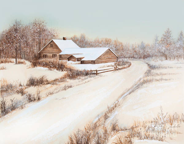 Winterness Art Print featuring the painting Winterness by Michelle Wiarda