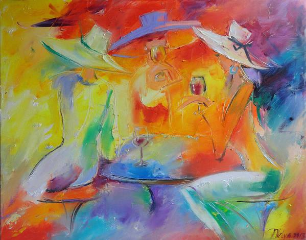 Art Art Print featuring the painting Women Out by Nelya Shenklyarska
