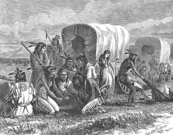 1870 Art Print featuring the photograph Native Americans: Gambling, 1870 by Granger
