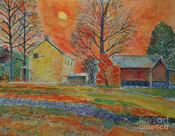 Pennsylvania Barn Paintings Art Print featuring the painting A Dover Pennsylvania Farm by Donald McGibbon