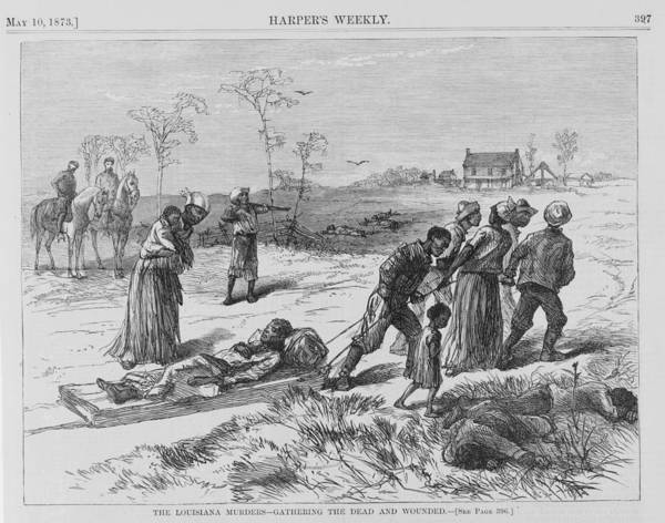 History Print featuring the photograph African American Gathering The Dead by Everett