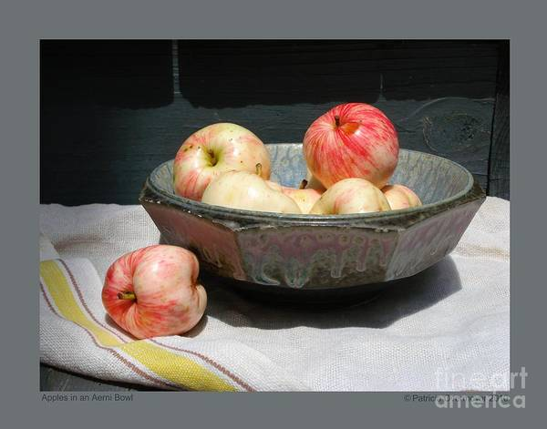 Apples Art Print featuring the photograph Apples In An Aerni Bowl by Patricia Overmoyer