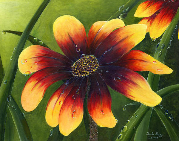 Flower Art Print featuring the painting Blanket Flower by Trister Hosang