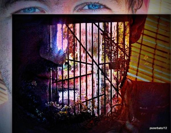 Challenge Art Print featuring the digital art Challenge Enigmatic Imprison Himself by Paulo Zerbato