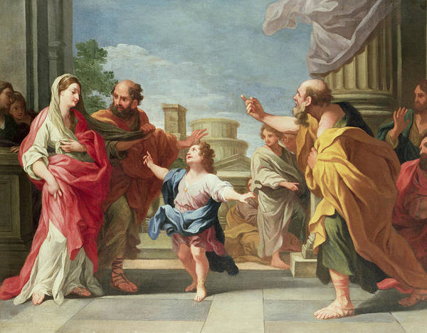 Christ Preaching In The Temple Art Print featuring the painting Christ Preaching In The Temple by Ludovico Gimignani