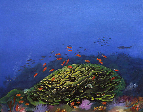 Coral Art Print featuring the painting Coral Head by Jacob Julian