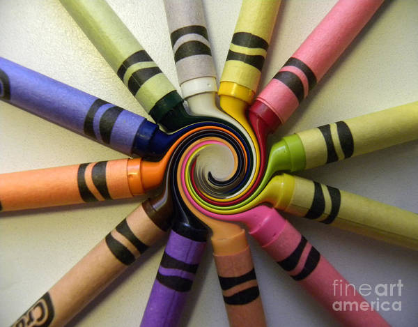Crayons Art Print featuring the photograph Crayons by Peggy Starks